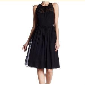 Jcrew Megan cocktail silk halter black mini dress